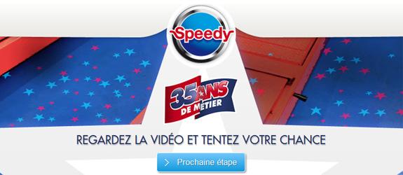 Speedy.fr - Jeu facebook Speedy