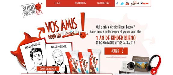 Kinderbueno.fr - Jeu Facebook Kinder Bueno France