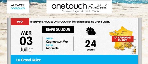 Alcatelonetouch.com - Jeu facebook Alcatel One Touch