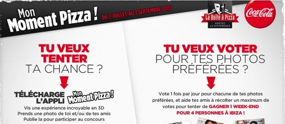 Laboiteapizza.com - Jeu facebook La Boite à Pizza