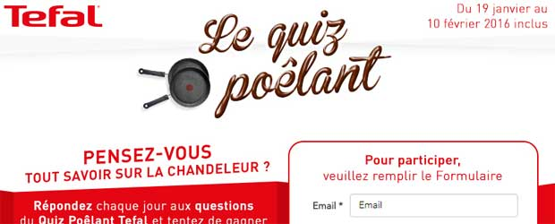 Jeu facebook Tefal France