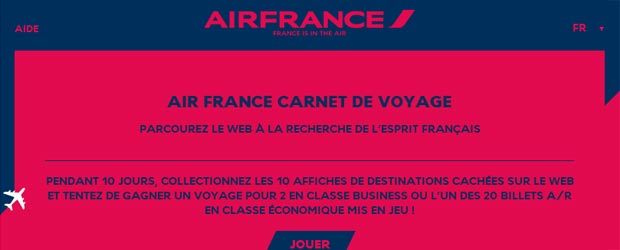 Airfrance.fr - Jeu facebook Air France