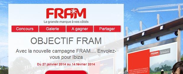 Fram.fr - Jeu facebook Les Voyages FRAM