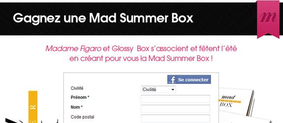 Madame.lefigaro.fr - Jeu facebook Madame Figaro