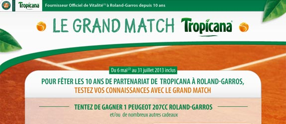 Tropicana.fr - Jeu facebook Tropicana France