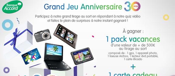 Banque-accord.fr - Jeu facebook Banque Accord