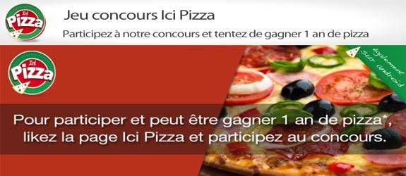 Ici-pizza.fr - Jeu facebook Ici Pizza