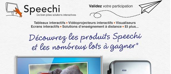 Speechi.net - Jeu facebook Speechi - eBeam en France
