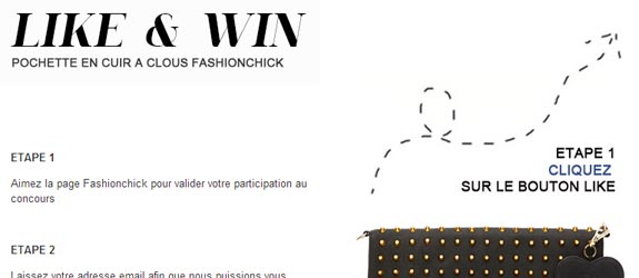 Fashionchick.fr - Jeu facebook Fashionchick.fr