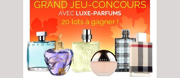 Luxe-parfums.com - Jeu facebook Luxe Parfums