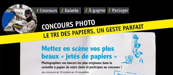 Recyclons-les-papiers.fr - Jeu facebook Recyclons les papiers