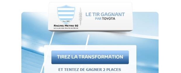 Toyota.fr - Jeu facebook Toyota France