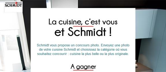Cuisines-schmidt.com - Jeu facebook Cuisine Schmidt