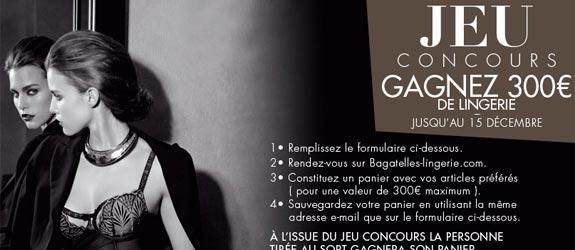 Bagatelles-lingerie.com - Jeu facebook Bagatelles Lingerie