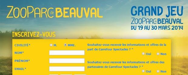Carrefour.fr - Jeu facebook Carrefour Spectacles