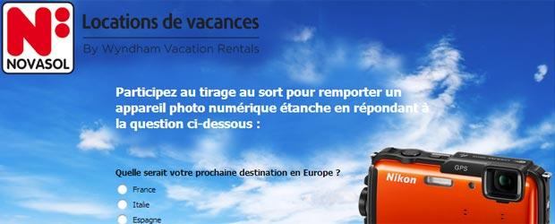 Novasol.fr - Jeu facebook Novasol.fr