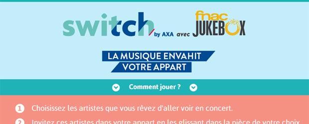 Switch.axa.fr - Jeu facebook Switch by AXA