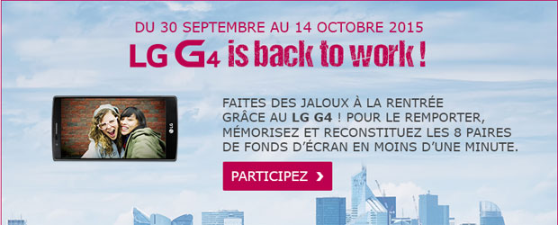 Jeu Facebook LG Electronics France