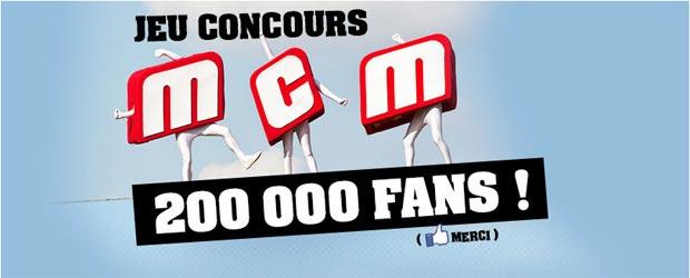 Mcm.fr - Jeu facebook MCM