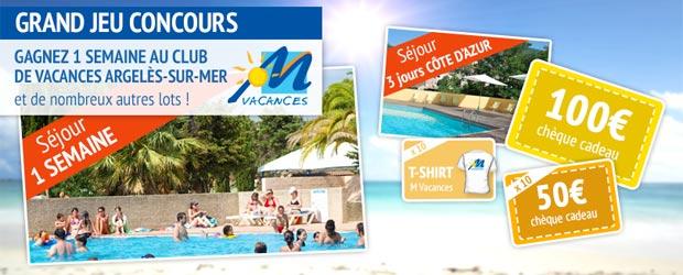 Mvacances.com - Jeu facebook M Vacances
