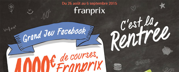 Jeu facebook Franprix