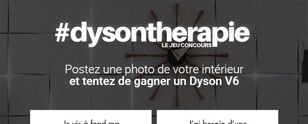 Jeu facebook Dyson